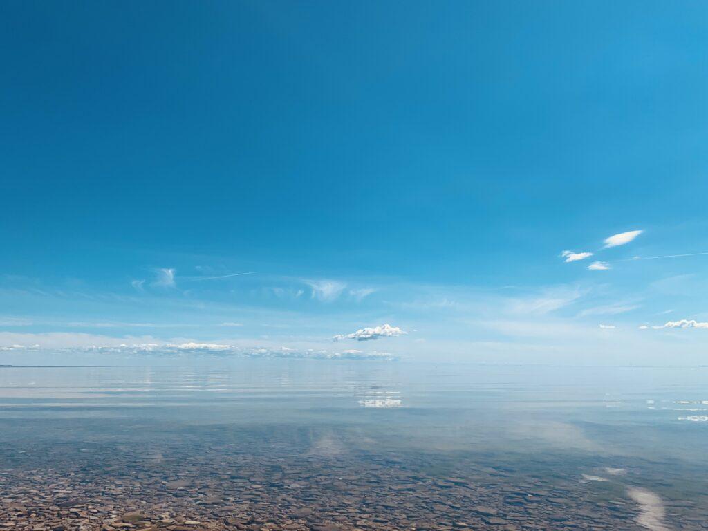 Sky meets the sea